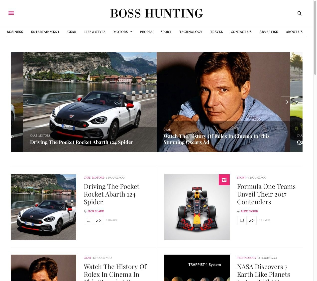 Boss Hunting Magazine